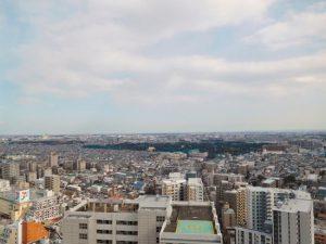 バルコニーからの眺望。27階だから遮るものがありません