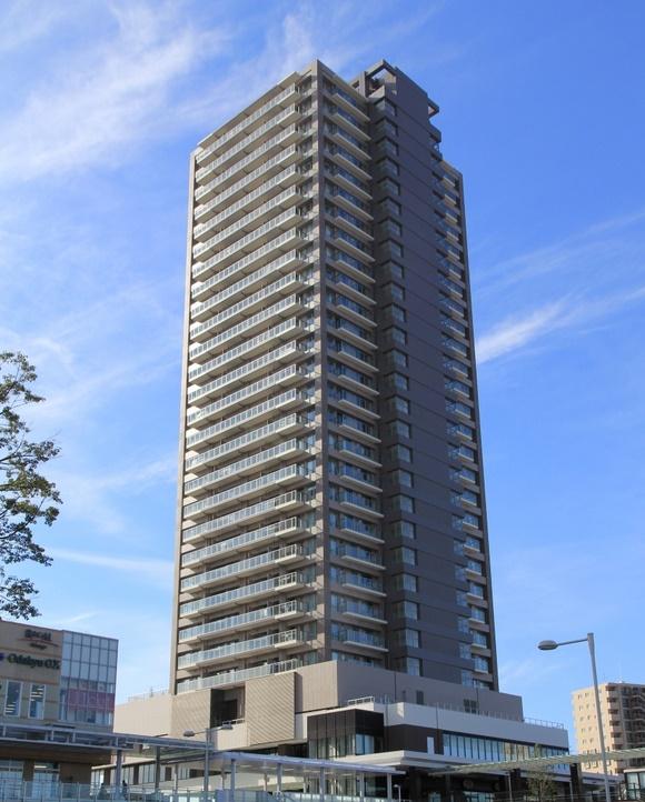 小田急相模原駅前再開発区域内の29階建て制振タワーマンション
